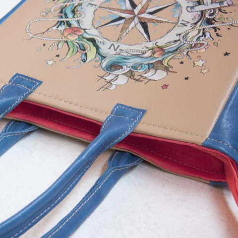 Leather bag Wind