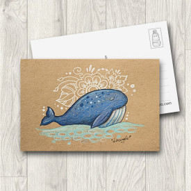 Postcard Blue Whale