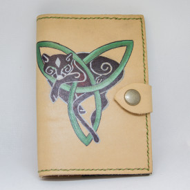 Passport cover Celtic cat