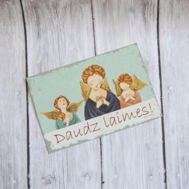 Postcard Daudz laimes
