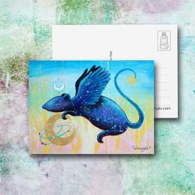 Postcard Flying rat