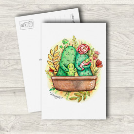Postcard New in Cactus family
