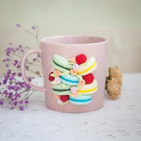 Mug Raspberry macarons