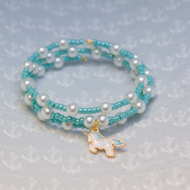 Bracelet Blue unicorn
