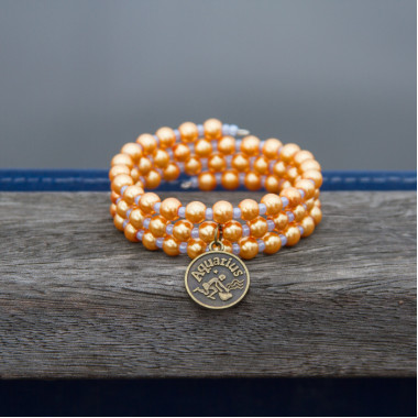 Zodiac bracelet Golden Aquarius