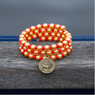 Zodiac bracelet Golden Aries