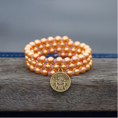 Zodiac bracelet Golden Gemini