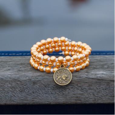 Zodiac bracelet Golden Leo