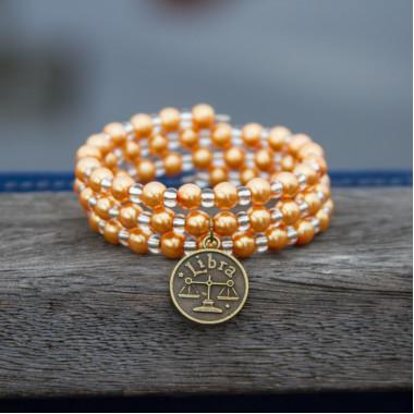 Zodiac bracelet Golden Libra