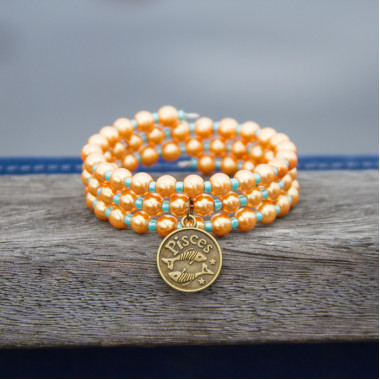 Zodiac bracelet Golden Pisces