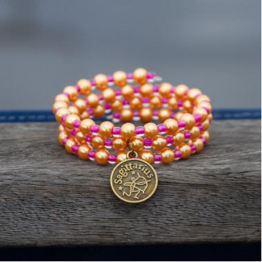 Zodiac bracelet Golden Sagittarius