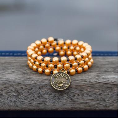 Zodiac bracelet Golden Scorpio