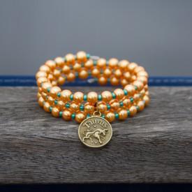Zodiac bracelet Golden Taurus