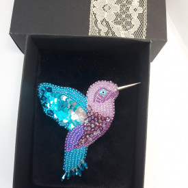 Brooch Hummingbird