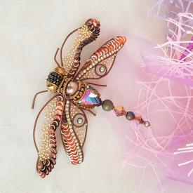 Brooch Autumn dragonfly
