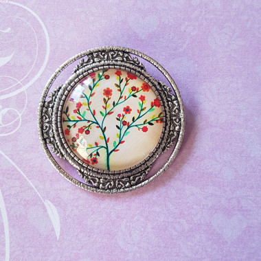 Brooch Cherry blossom