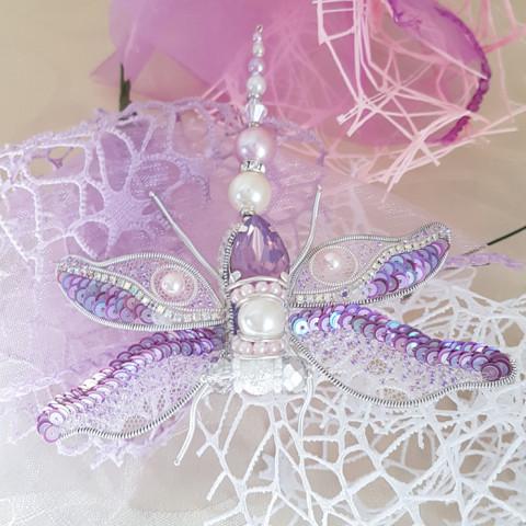 Brooch Lavender dragonfly