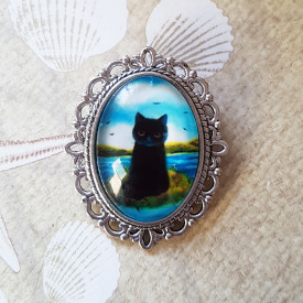 Brooch River cat
