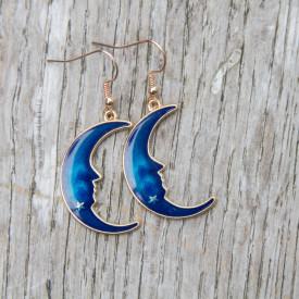 Earrings Blue moon