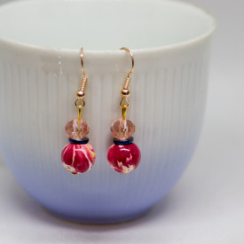 Earrings Cranberry