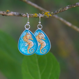 Earrings Gold seahorse