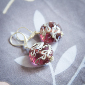 Earrings Allium