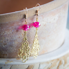 Earrings Raspberry