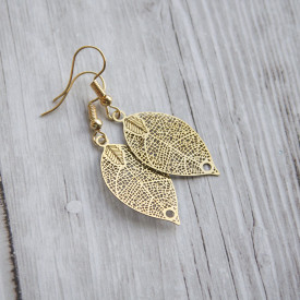 Earrings Golden leaves