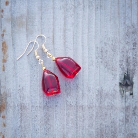 Earrings Red wine