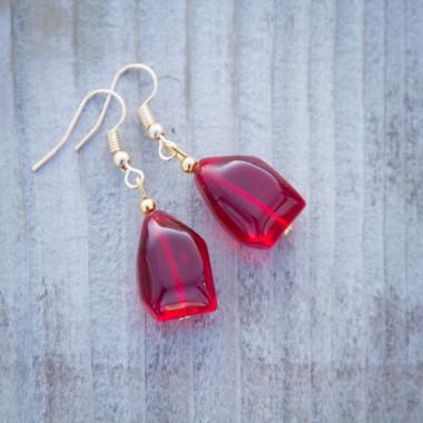 Earrings Red wine
