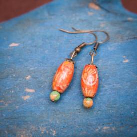 Earrings Camellia