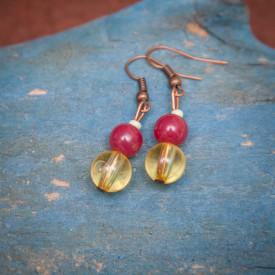 Earrings Calathea