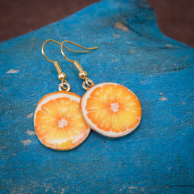 Earrings Orange