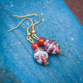 Earrings Grape