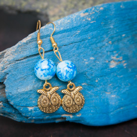 Earrings Round owls