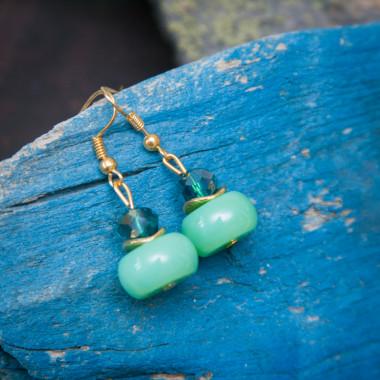 Earrings Green