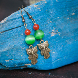 Earrings Summer owls