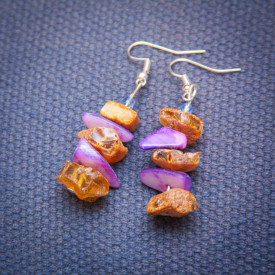 Earrings Amber dreams