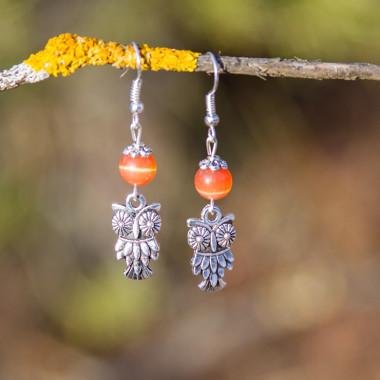 Earrings October owls