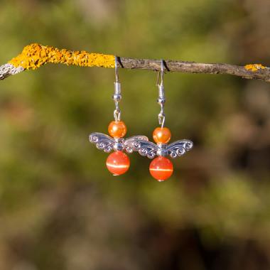 Earrings Orange angels