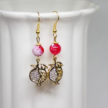 Earrings Pomegranate