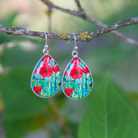 Earrings Poppies